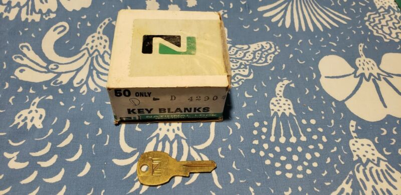 Lot 50 New Old Stock Genuine National Lock D4290 3 Pin Tumbler Key Blanks