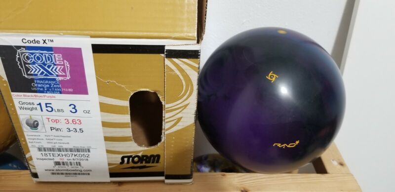 Storm Code X Bowling Ball NEW IN BOX