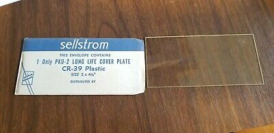 Sellstrom Cr-39 Long Life Cover Plate 4 14 2 Clear Old School Welding Lens