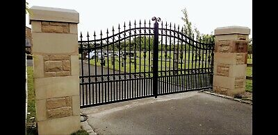 wrought iron gates. Electric gate estate gate