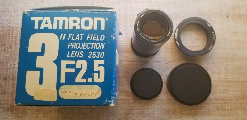 "Tamron Pro 3"" flat field projection lens 2530 f:2.5 75mm lens Japan 796286"