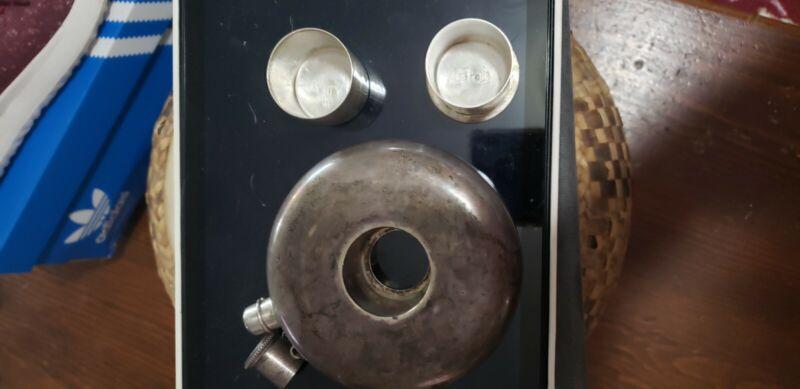 Antique Sterling Silver Flask Rare Unique Unusual