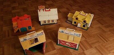 fisher price school house, Barns, House and Western Stable.