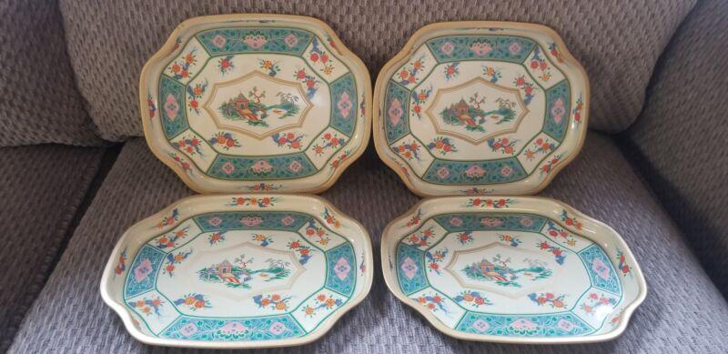 Vintage 1950s Baret Ware Art Grace Canton Tins Serving Tray Asian England 147