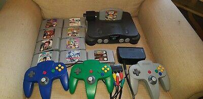 Nintendo 64 Console & Games Bundle Controllers
