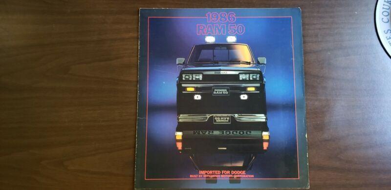 Original 1986 Mitsubishi Dodge Ram 50 Sales Brochure advertisement 86 ad Vintage