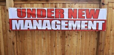 Under New Management Banner Sign Now Open Store Restaurant Outdoor Vinyl Mesh