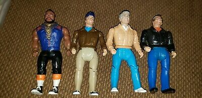 "Vintage 1983 A-Team Lot of 4 - B.A. (Mr. T), Face, Murdock, Hannibal 6"""