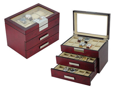 30 Wood Watch Display Collector Jewelry Case Gift Storage Box 235030c