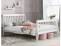 FREE Double White Sleigh Bed Frame