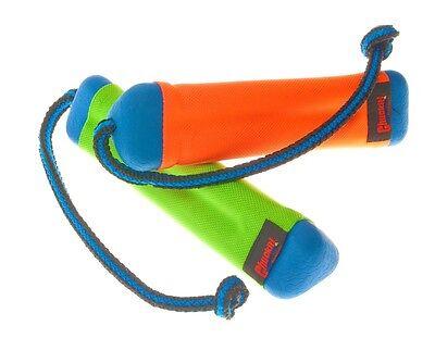 CHUCKIT! AMPHIBIOUS BUMPER - Sm/Med Floats Rope Fetch Water Pool Lake Dog Toy Amphibious Bumper Dog Toy