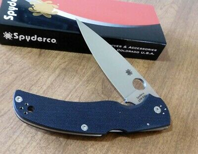 SPYDERCO New Black G10 Handle Native Chief Satin Plain S30V Blade Knife/Knives