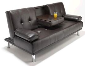 **14-DAY MONEY BACK GUARANTEE!** Comfy Faux Leather Sofabed in Different Colours DELIVERED SAME DAY!