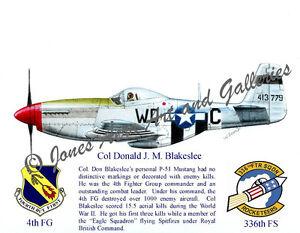 4FG-Col-Don-Blakeslees-P-51D-Mustang-Giclee-Iris-Prints-by-Willie-Jones-Jr