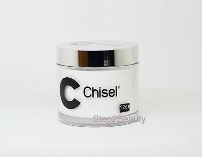 (Chisel Nail Art 2 in 1 Acrylic/Dipping Powder | Super White 12 oz)
