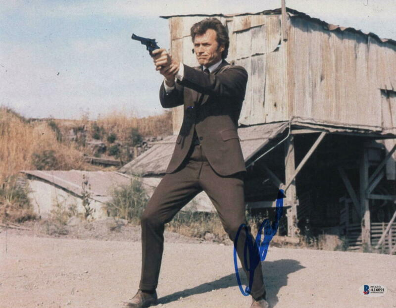 CLINT EASTWOOD SIGNED AUTOGRAPH 11x14 PHOTO DIRTY HARRY HOLLYWOOD LEGEND BECKETT
