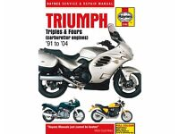 Haynes Manual for Triumph Triples and Fours.
