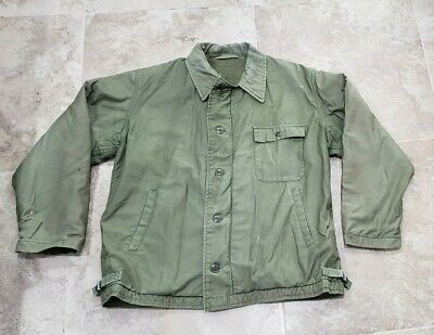 Vintage A2 Deck Jacket USN 60s 70s Size M/L Lined