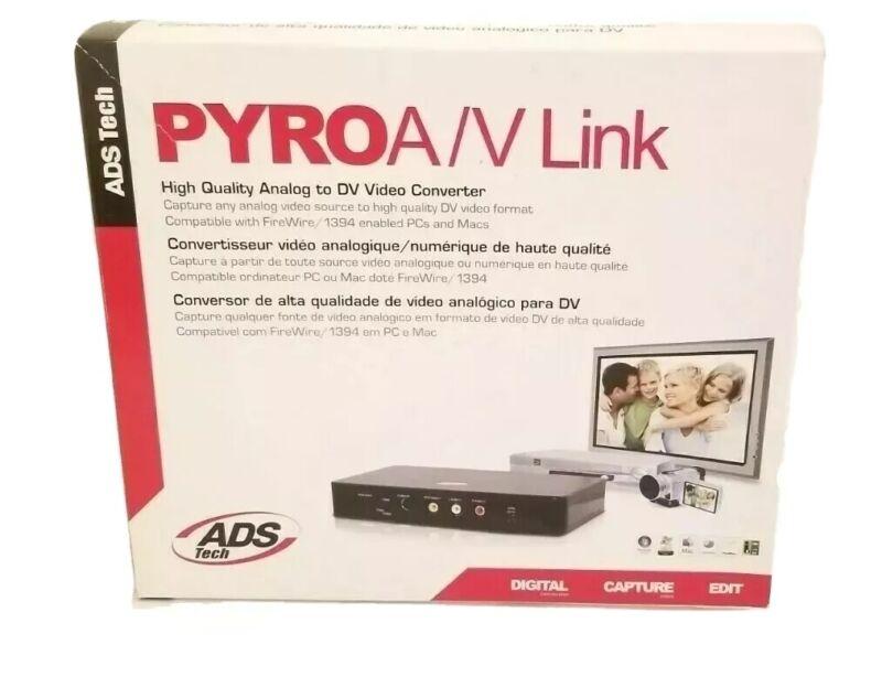ADS API-558-EFS Pyro A/V Link Analog to DV Video Converter New