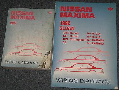 1992 Nissan Maxima Service Manual Set
