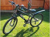 "Halfords Boys Bike HOOD V4 Black - 7 gears for Age 8-10 with 24"" wheels"