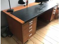 Large Vintage 60/70 S Teak Modernist Executive Desk