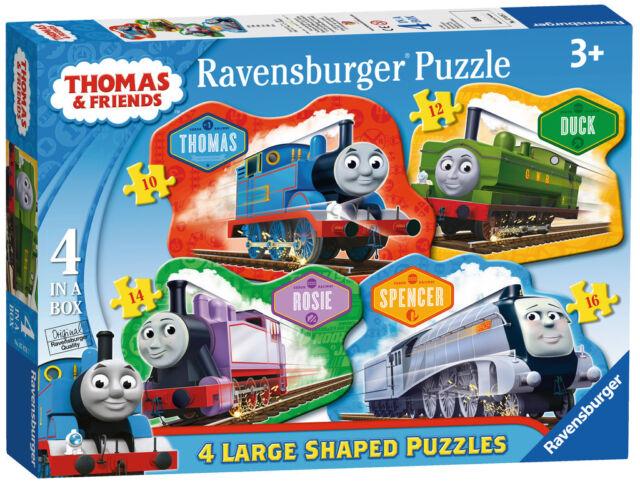 THOMAS & FRIENDS 4 SHAPED PUZZLES RAVENSBURGER JIGSAW PUZZLE AGE 3+