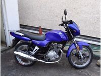 AJS 125cc motorcycle. Fully serviced, new MOT. New tires, disc and pads.