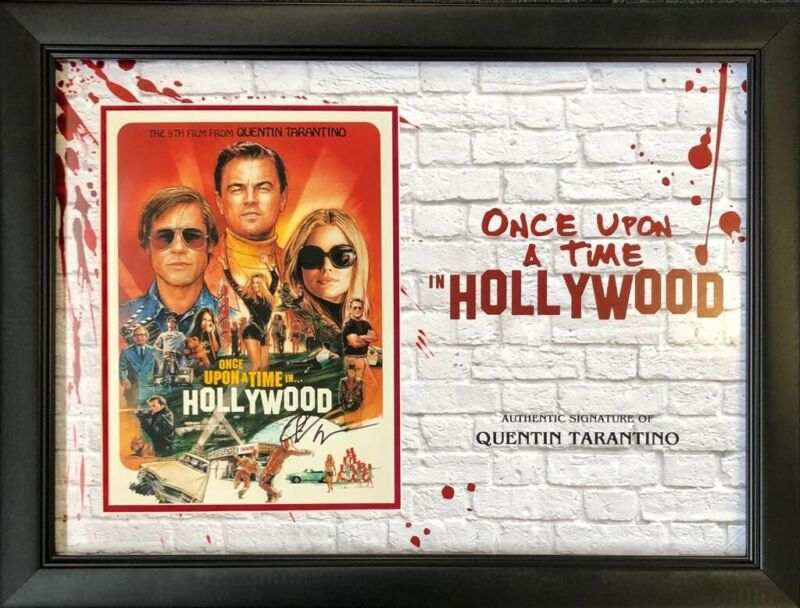 Quentin Tarantino Signed & FRAMED Photo Once Upon A Time IN Hollywood AFTAL COA