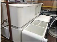Large White Storage Units