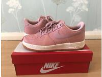 Nike Air Force 1 Pink Leather - Size 7.5