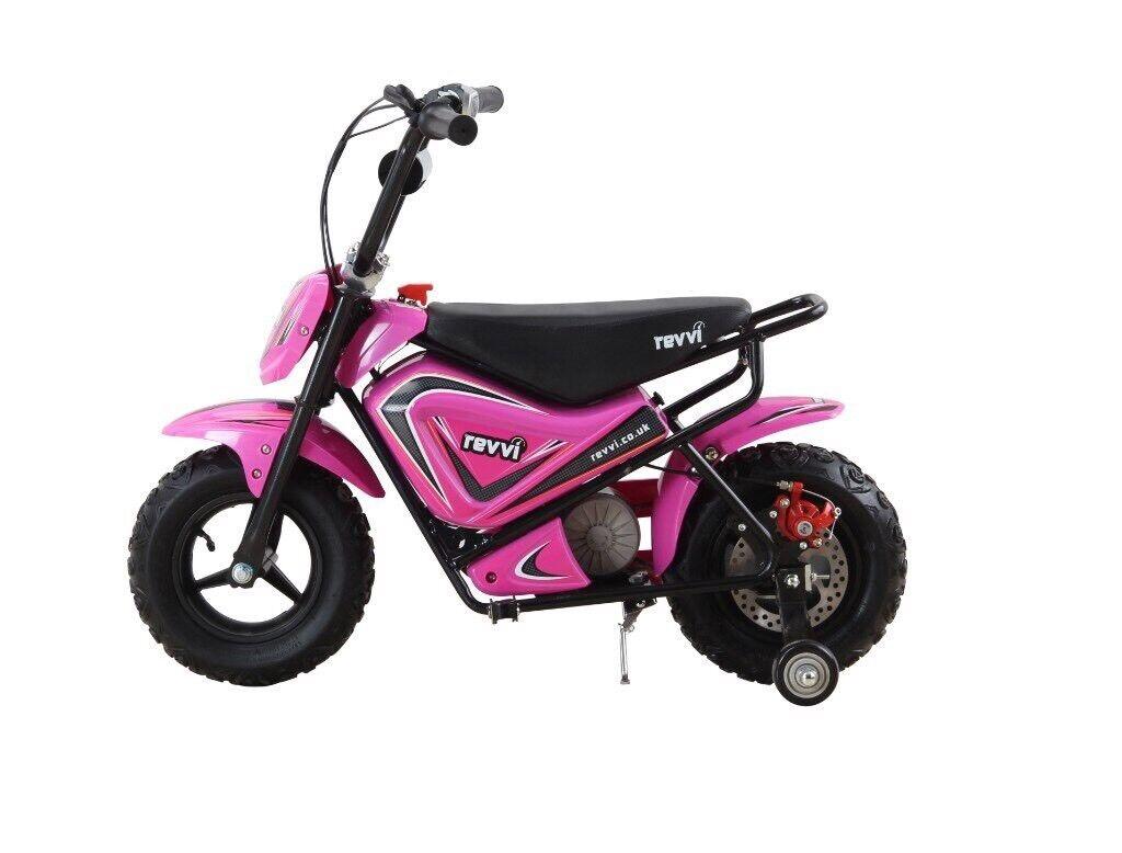 Revvi Bundle 2018 Kids Electric Dirt Bikes 250w 12v In Great Pink Honda Bike
