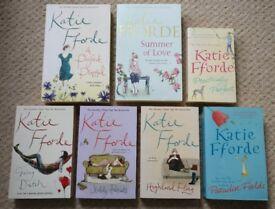 Katie Fforde Books bundle, chicklit, 7 paperbacks, good condition