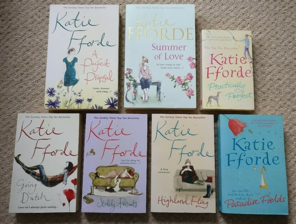 Katie Fforde Books bundle, chicklit, 7 paperbacks, good condition