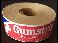 5 Roll Pack. Butterfly Gumstrip Sealing Tape 24mm x 35m Roll