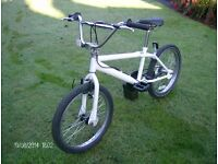 """BMX/Stunt bike. 20"""" wheels. Excellent condition, a few paint scuffs, fully serviced, ready to ride."""