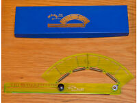 ACU-ARC A464M by HOYLE AARM Adjustable Ruler centimetres for drawing curves in original box