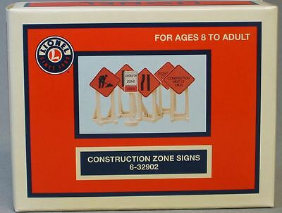 Highway Construction Signs - LIONEL CONSTRUCTION ZONE SIGNS train road track highway maintenance 6-32902 NEW