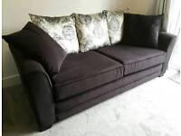SOFA 3 Seater in Black Velvet from Barker and Stonehouse