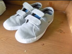 Lacoste boys trainers size 9