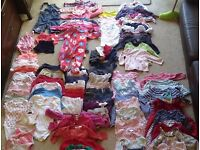Huge bundle of baby girls clothes aged 6-9 months - 93 items in total