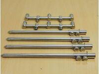 3 rod goal post chrome buzz bars and bank sticks
