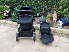 Graco Evo XT Pushchair/Stroller & Carrycot/Bassinet