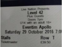 A pair of Level 42 tickets