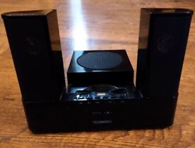 Technika SP-207 MP3 USB Player and Speakers - Instructions, Box, Power Adapter