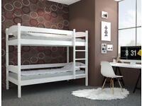 White wooden Bunk bed standard sinngle size