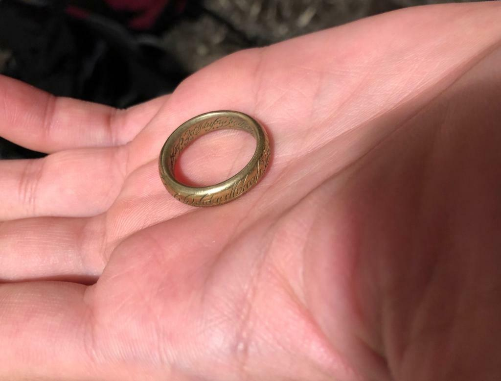 The lord of the rings ring, gold surface | in Leamington Spa ...
