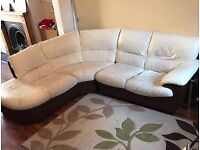 CORNER COUCH & SINGLE CHAIR WITH ELECTRIC RECLINER