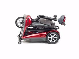 New Automatic Electric Folding Portable lightweight Mobility Scooter. Red