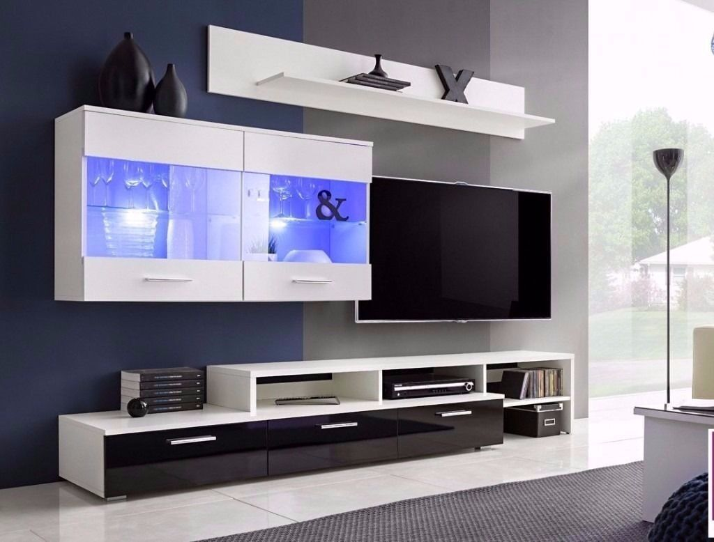 Living Room Furniture Set Vicky Free Led Tv Stand